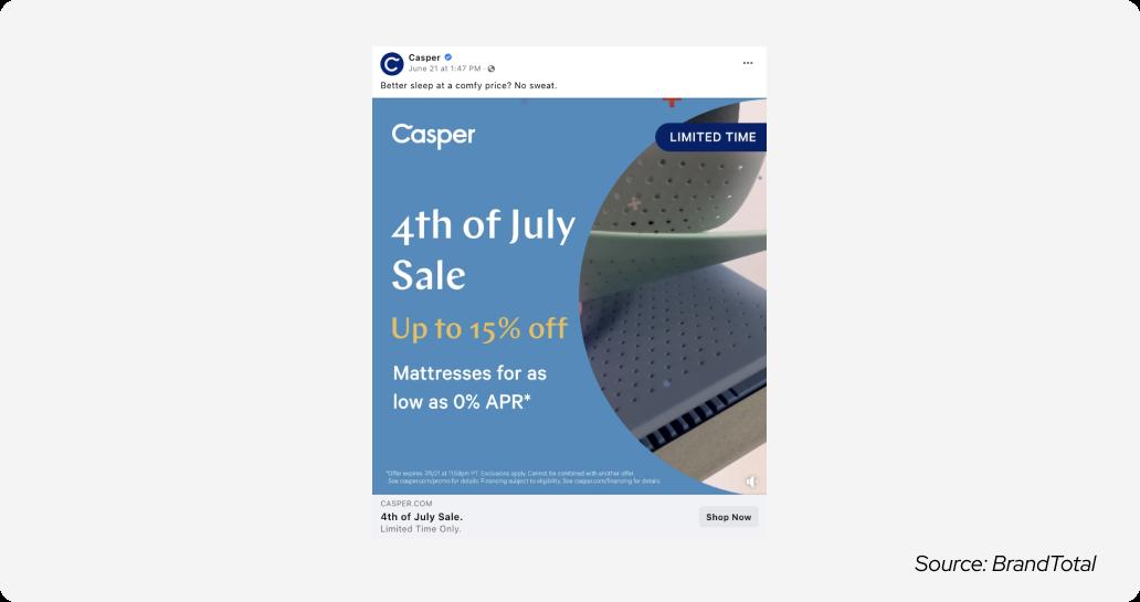 July 4 - casper ad