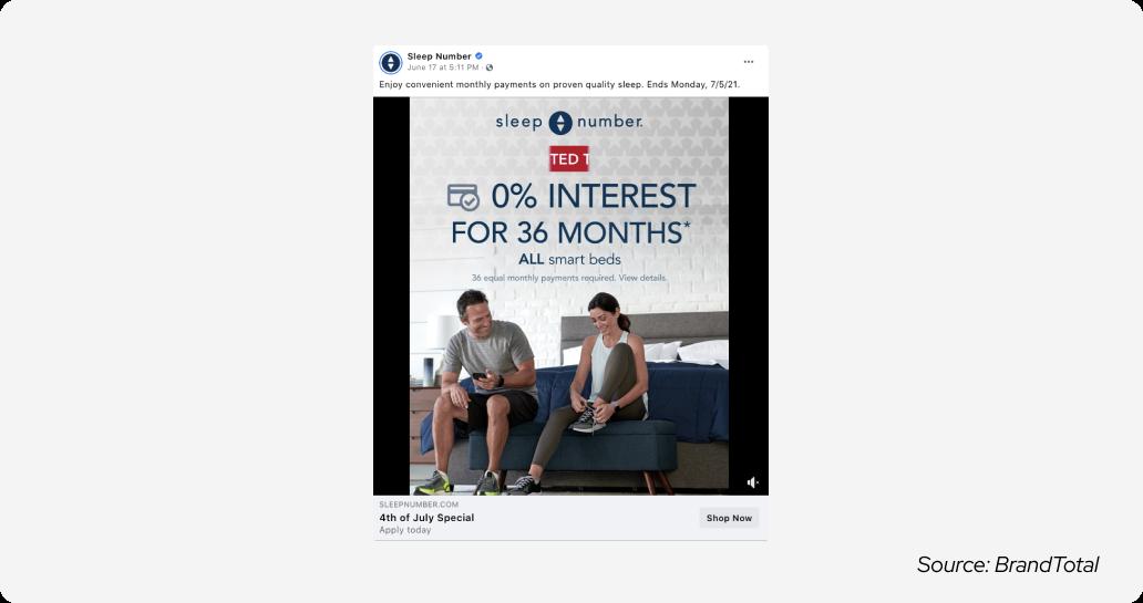 July 4 - sleep number ad