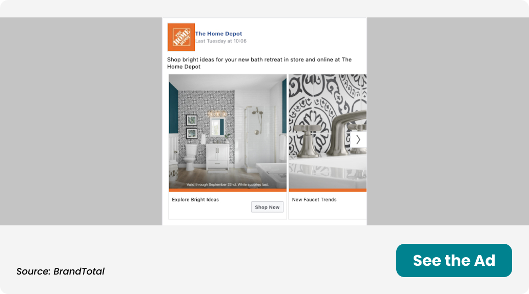 Ad for Home Depot